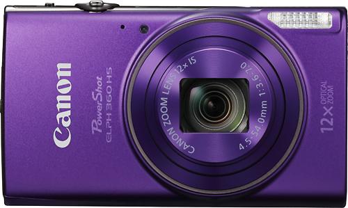 Canon - PowerShot Elph360 20.2-Megapixel Digital Camera - Purple