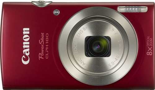 Canon - PowerShot Elph 180 20.0-Megapixel Digital Camera - Red