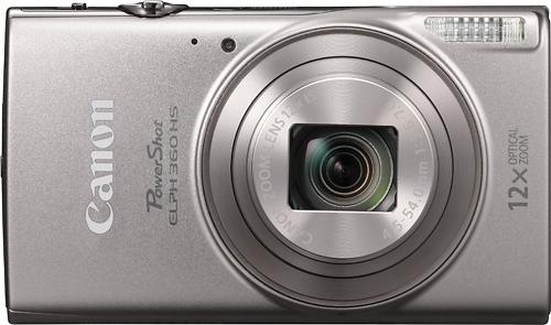 Canon - PowerShot Elph 360 20.2-Megapixel Digital Camera - Silver
