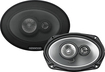 "Kenwood - 6"" x 9"" 3-Way Car Speakers with Polypropylene Cones (Pair) - Silver"