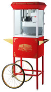 Great Northern Popcorn - Roosevelt Popper Popcorn Maker with Cart - Red