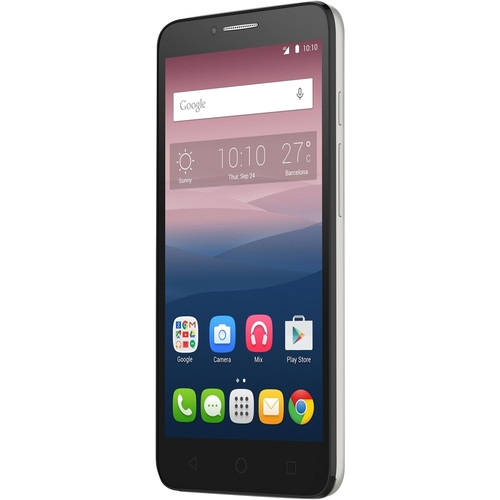 Alcatel - One Touch POP 3 (5.5) 4G LTE with 8GB Memory Cell Phone (Unlocked) - Soft silver