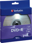 Verbatim - 16x Dvd+r Discs With Branded Surface (10-pack) Deal