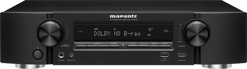 Marantz - 500W 5.2-Ch. 4K Ultra HD and 3D Pass-Through A/V Home Theater Receiver - Black
