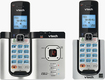 VTech - Connect to Cell DECT 6.0 Expandable Cordless Phone System with Digital Answering System - Silver