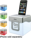 iHome - Color-Changing Dual-Alarm Clock Speaker for 30-Pin Apple® iPhone® and iPod®
