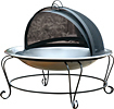 Char-Broil - Outdoor Firebowl - Stainless-Steel/Black