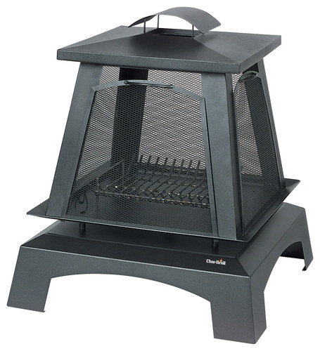 Char-Broil Trentino Outdoor Fireplace Black 01505710