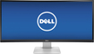 "Dell - UltraSharp 34"" IPS LED HD 21:9 Ultrawide Monitor - Black"