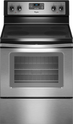 "Whirlpool - Closeout 30"" Self-Cleaning Freestanding Electric Range - Stainless-Steel"