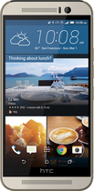 HTC - One (M9) 4G LTE with 32GB Memory Cell Phone - Gold on Silver (Sprint)