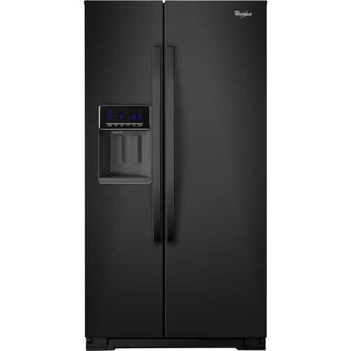 Whirlpool - 21 Cu. Ft. Side-by-Side Counter-Depth Refrigerator with Water and Ice Dispenser - Black