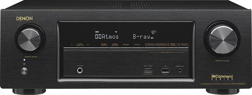 Denon - 1225W 7.2-Ch. 4K Ultra HD and 3D Pass-Through A/V Home Theater Receiver - Black