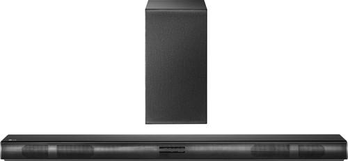 LG - 2.1-Channel Soundbar System with Wireless Subwoofer - Black