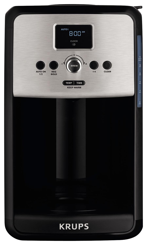 Krups - Savoy 12-cup Coffeemaker - Black/stainless Steel 4900905
