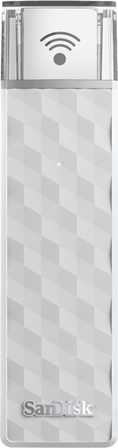 SanDisk - Connect 200Gb USB 2.0 Type A Wireless Flash Drive - White