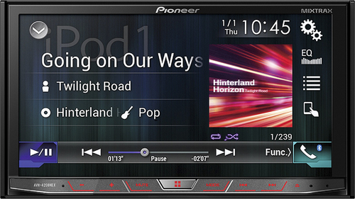 Pioneer - AVH - 7 - CD/DVD - Satellite Radio-Ready - In-Dash Deck - Black