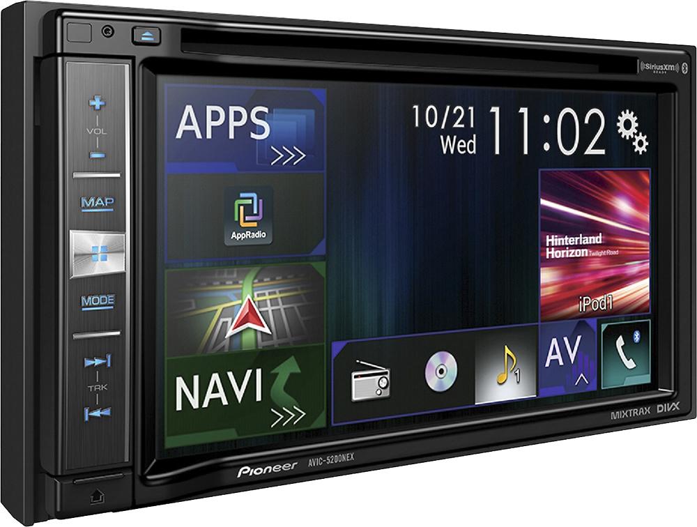 Pioneer Avic   Built In Gps Cddvd Satellite Radio Ready In Dash Deck Black Avic Nex Best Buy