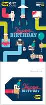 Best Buy Gc - $75 Happy Birthday Selfie Stick Gift Card