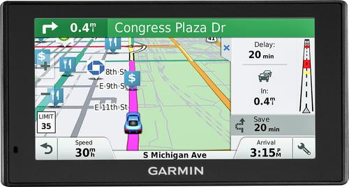 Garmin - DriveSmart 60LMT 6 GPS with Built-In Bluetooth, Lifetime Map Updates and Lifetime Traffic Updates