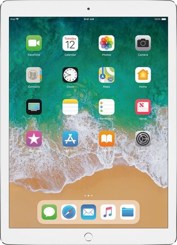 Apple - 12.9- Inch iPad Pro with Wi-Fi + Cellular - 256 GB - Silver