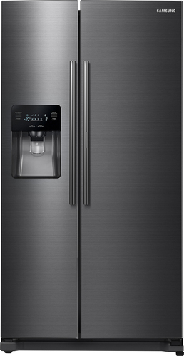 Samsung - ShowCase 24.7 Cu. Ft. Side-by-Side Refrigerator - Black Stainless Steel