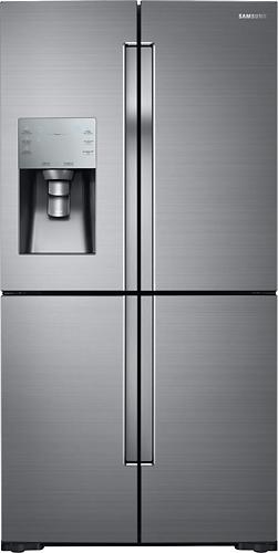Samsung - 28.1 Cu. Ft. 4-Door Flex French Door Refrigerator - Stainless Steel