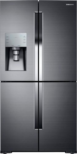 Samsung - 28.1 Cu. Ft. 4-Door Flex French Door Refrigerator - Black Stainless Steel