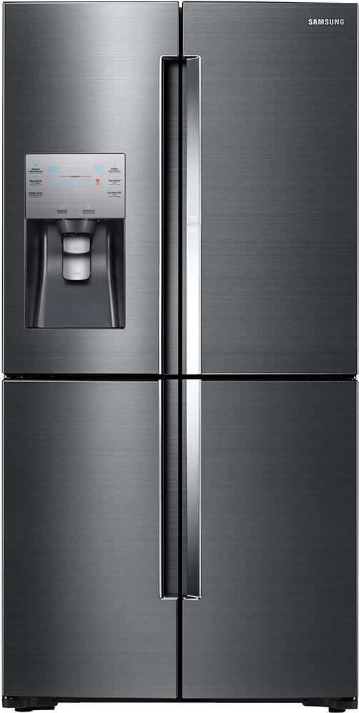 Samsung   ShowCase 22.04 Cu. Ft. 4 Door Flex French Door Counter Depth  Refrigerator   Black Stainless Steel At Pacific Sales