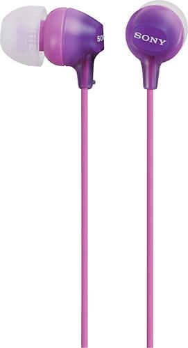 Sony - EX Series Earbud Headphones - Violet/Pink
