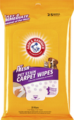 Arm & Hammer - Pet Fresh Pet Stain Carpet Wipes (25-Pack) - Yellow