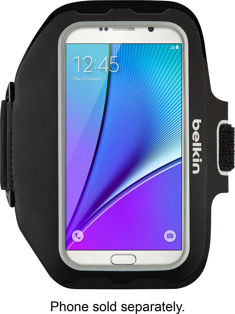 Belkin - Sport-fit Plus Armband For Galaxy S7 Edge - Black\/silver