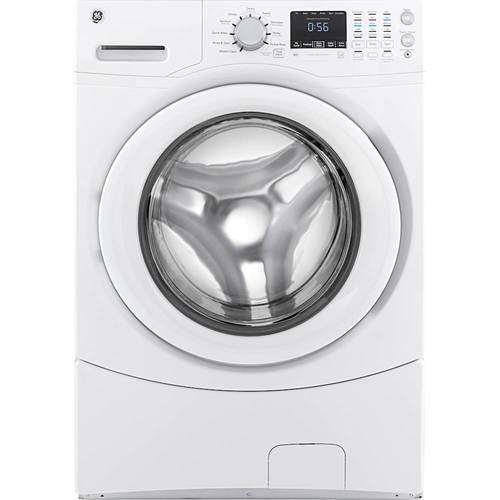 GE Appliances - 4.3 DOE Cu. Ft. 10-Cycle Front-Loading Washer - White