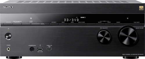 Sony - 7.2-Ch. Network-Ready 4K Ultra HD and 3D Pass-Through A/V Home Theater Receiver - Black
