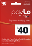 PayLo by Virgin Mobile - $40 Top-Up Card - Red