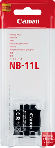 Canon - NB-11L Lithium-Ion Battery - Black