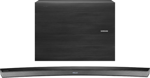 Samsung - 2.1-Channel Curved Soundbar System with Wireless Subwoofer - Black