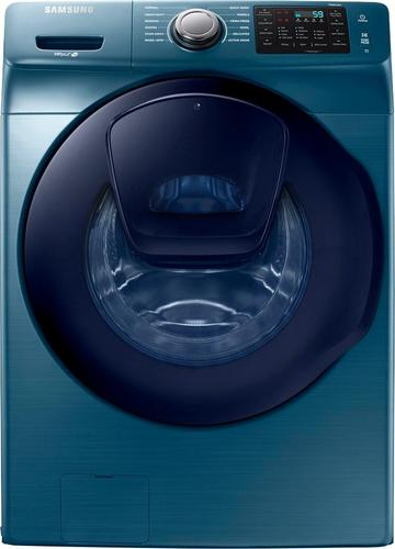 Samsung - 4.5 Cu. Ft. 12-Cycle Addwash™ High-Efficiency Front-Loading Washer - Azure