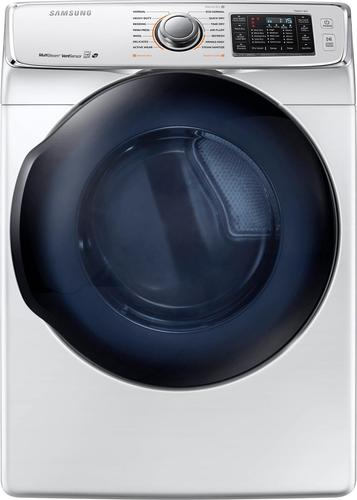 Samsung - 7.5 Cu. Ft. 14-Cycle Electric Dryer with Steam - White