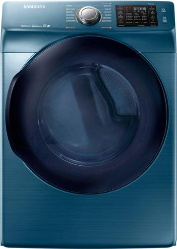 Samsung - 7.5 Cu. Ft. 12-Cycle High-Efficiency Electric Dryer with Steam - Azure