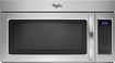 Whirlpool - 1.7 Cu. Ft. Over-the-Range Microwave - Black/Stainless-Steel