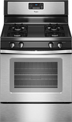 "Whirlpool - 30"" Self-Cleaning Freestanding Gas Range - Stainless-Steel"