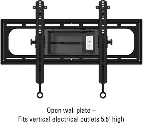Sanus - Tilting TV Wall Mount For Most 37 - 95 LCD TVs - Black