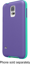 Belkin - AIR PROTECT Grip Candy SE Case for Samsung Galaxy S 5 Cell Phones - Purple/Jade
