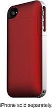 mophie - juice pack air Charging Case for Apple® iPhone® 4 - Crimson