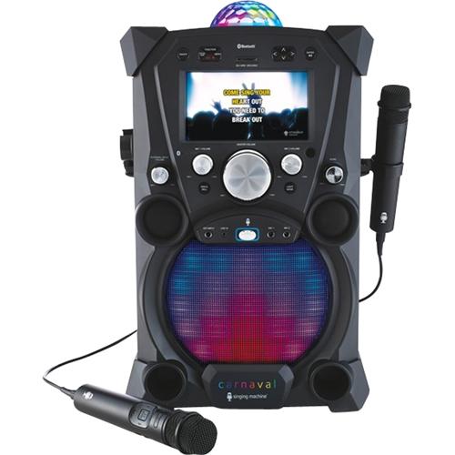 Singing Machine - Carnaval All-digital Hd Karaoke System - Black 4942002