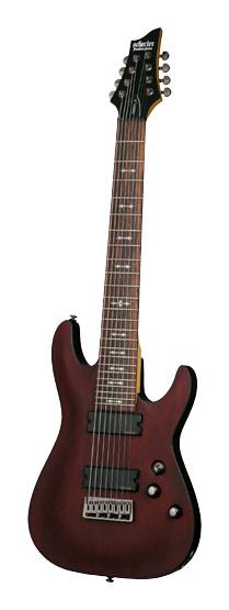 Schecter - Omen-8 8-String Electric Guitar - Walnut Satin