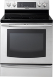 "Samsung - 30"" Self-Cleaning Freestanding Electric Convection Range - Stainless-Steel"