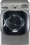 LG - SteamDryer 9.0 Cu. Ft. 14-Cycle Ultra-Large Capacity Steam Gas Dryer - Graphite Steel