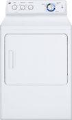 GE - 7.0 Cu. Ft. 9-Cycle Electric Dryer - White-on-White